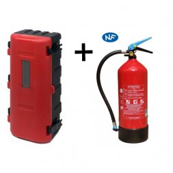 BOX FOR EXTINGUISHER 6KG RED