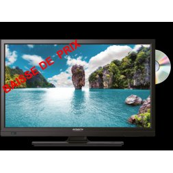 "TV HD LCD 22"" 55CM DVD"
