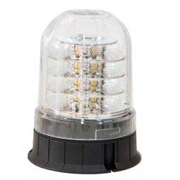 GYROPHARE ORANGE A LEDS AVEC CABOCHON CRISTAL
