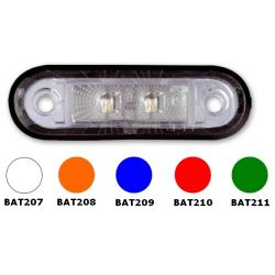 LED 12-30V BLANC/ORANGE/ROUGE/BLEU